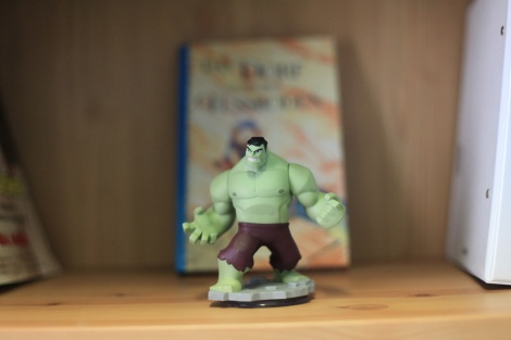 Writer artist John E. Brito´s workspace with infinity figure Hulk